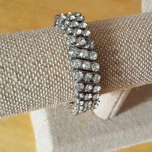 Vintage unique stretch rhinestone bracelet